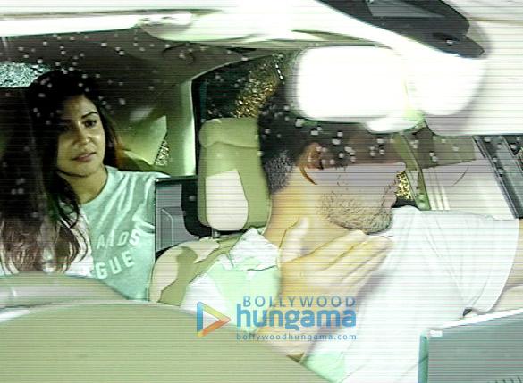 Anushka Sharma & Virat Kohli snapped post 'Sultan' screening at Yash Raj Studio