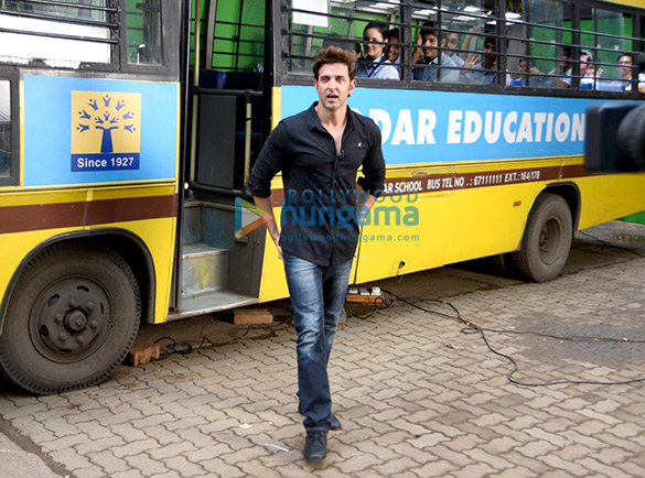 Hrithik Roshan snapped post a fun shoot with school kids