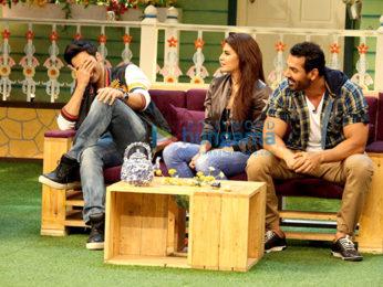 John Abraham, Varun Dhawan & Jacqueline Fernandez promote 'Dishoom' on sets of The Kapil Sharma Show