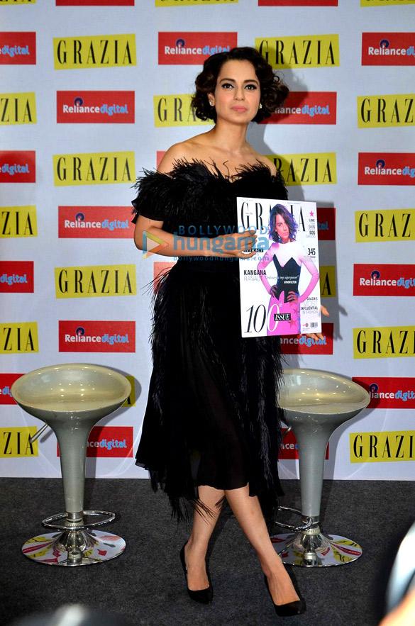 Kangna Ranaut launches Grazia's latest cover