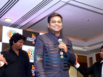 A R Rahman at the press conference of 'Premier Futsal'