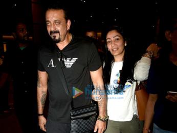 Sanjay Dutt & Manyata Dutt return from Dubai