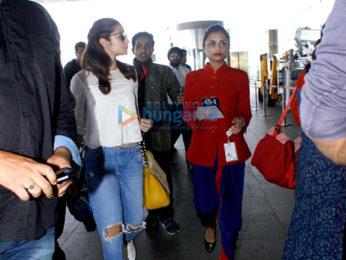 Sidharth Malhotra & Alia Bhatt depart for Delhi