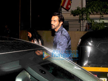 Arjun Rampal snapped post dinner with his family at The Korner House