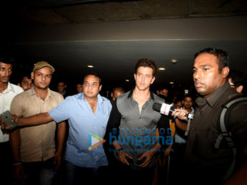 Hrithik Roshan snapped at the airport returning from Hyderabad
