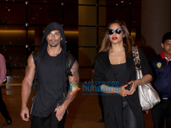 Karan Singh Grove, Bipasha Basu & Irrfan Khan snapped at the international airport