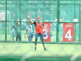 Ranbir Kapoor snapped practicing his football moves