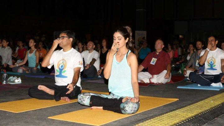 Shilpa Shetty At 'IIFA Yoga Masterclass'