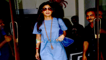 Shilpa Shetty and her family snapped post their brunch at Bastian
