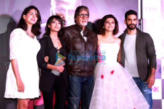 Amitabh Bachchan & Taapsee Pannu at the trailer launch of 'Pink'