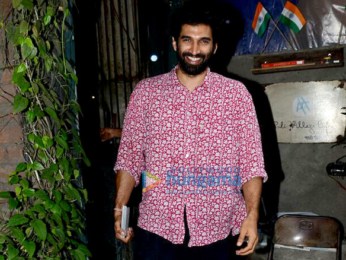 Aditya Roy Kapur & Atul Kasbekar snapped post lunch at Pali Village Cafe