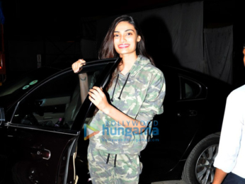 Athiya Shetty snapped post an ad shoot