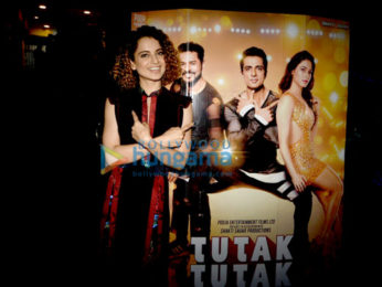 Kangna Ranaut, Sonu Sood & Prabhu Deva at the music launch of 'Tutak Tutak Tutiya'