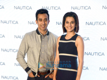 Rahul Khanna & Taapsee Pannu at the launch of Nautica's new collection