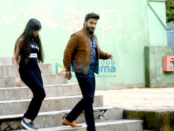 Ranveer Singh snapped on the sets of an ad shoot