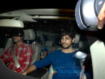Sidharth Malhotra & Katrina Kaif snapped post dinner at Nitya Mehra's house