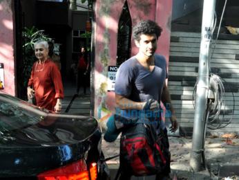Aditya Roy Kapur snapped with his mom in Bandra