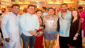 Ajay Devgn celebrates Diwali with the team of Taarak Mehta Ka Ooltah Chashmah