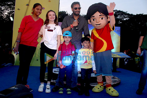 Ajay Devgn and crew of 'Shivaay' snapped promoting their film