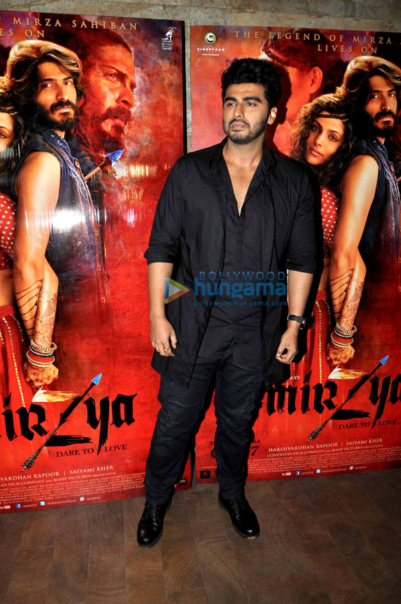 Arjun Kapoor & Anil Kapoor grace 'Mirzya' screening at Lightbox
