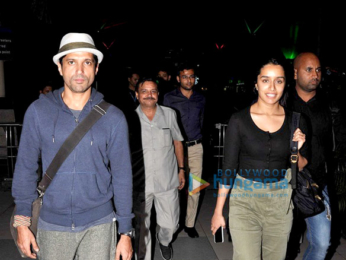 Farhan Akhtar & Shraddha Kapoor return from Shillong after shooting for Rock On!! 2