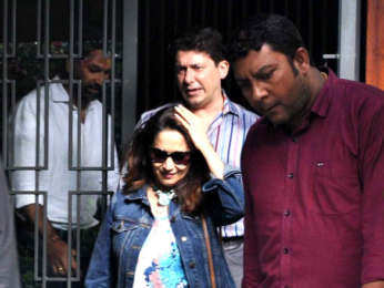 Madhuri Dixit and family snapped post lunch at a suburban restaurant