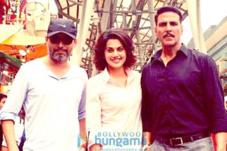 On The Sets Of The Film Naam Shabana