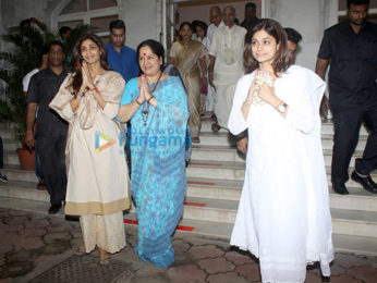 Prayer meeting of Shilpa Shetty's (late) father Surendra Shetty