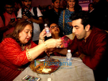 Ranbir Kapoor, Ayan Mukerji and Kajol snapped at the North Sarbojini Durga Pandal