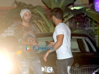 Ranbir Kapoor & Varun Dhawan snapped at Aditya Roy Kapur's party