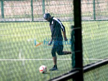 Ranbir Kapoor & Armaan Jain snapped during football practice