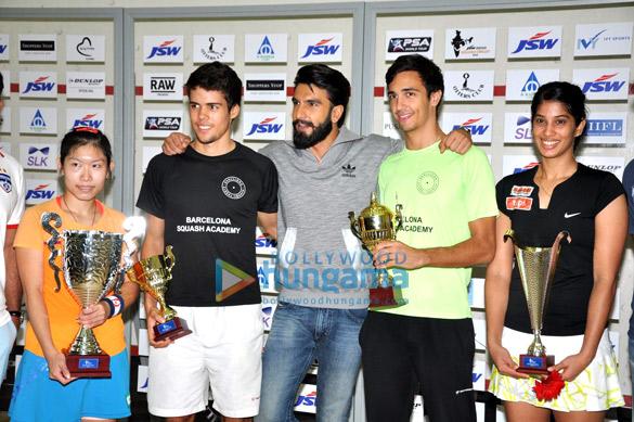 Ranveer Singh graces JSW Squash Circuit 2016 championship finale