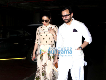 Saif Ali Khan & Kareena Kapoor Khan return from Hyderabad