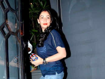Sanjay Dutt, Suniel Shetty and Abhishek Kapoor snapped post dinner at The Korner House