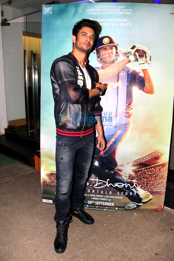 Sushant Singh Rajput holds special screening of 'M.S. Dhoni - The Untold Story'