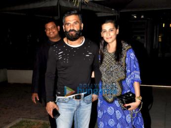Suniel Shetty & Sanjay Kapoor snapped post dinner in Bandra