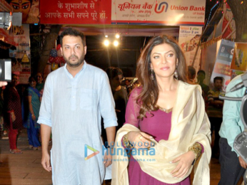 Sushmita Sen graces Durga Pooja ceremony