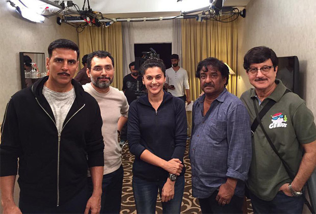 On the Sets: Akshay Kumar and Tapsee shoot for Naam Shabana