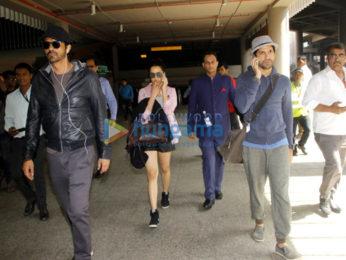 Airport Spotting: 'Rock On!! 2' starcast returns from Delhi