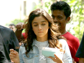 Alia Bhatt snapped during her upcoming film 'Dear Zindagi's promotions
