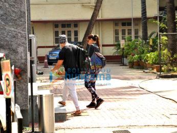 Bipasha Basu and hubby Karan Singh Grover snapped entering the gym