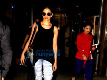 Deepika Padukone snapped as she returns from Bangalore