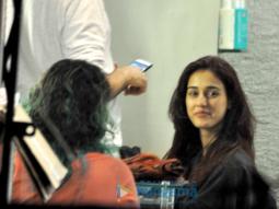 Disha Patani snapped at a salon in Bandra