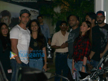 Hrithik Roshan & Yami Gautam snapped post movie screening at Sunny Super Sound