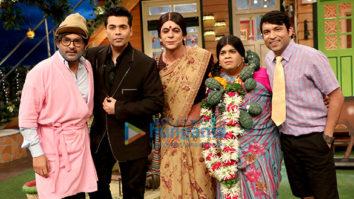 Karan Johar on the sets of The Kapil Sharma Show
