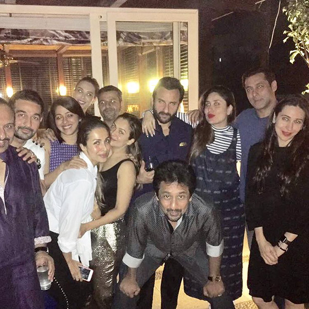 Salman Khan, Saif Ali Khan, Kareena Kapoor at Amrita Arora's terrace party