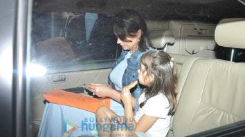 Lara Dutta snapped with kids at Bandra Gymkhana