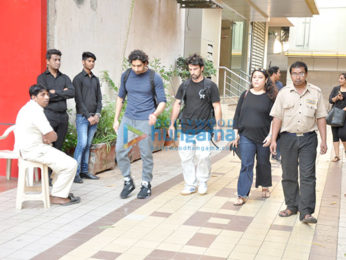 Ranbir Kapoor and Ayan Mukerji snapped post dance rehearsal in Khar