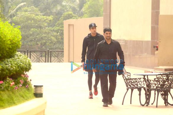 Ranbir Kapoor snapped post gym session at Taj Lands End