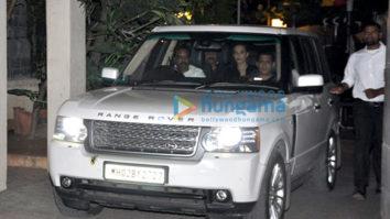 Salman Khan, Lulia Vantur, Saif Ali Khan and Kareena Kapoor Khan snapped post party at Amrita Arora's house